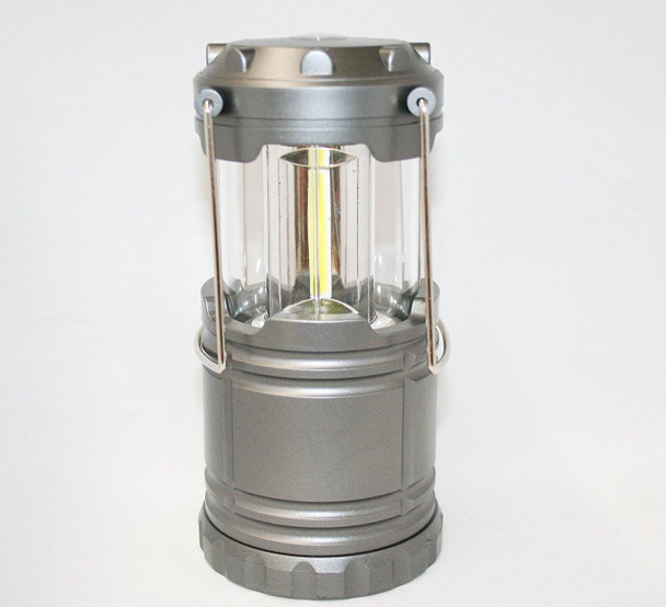Outdoorsman By i-Zoom 600 Lumen COB LED Collapsible Lantern - Gray