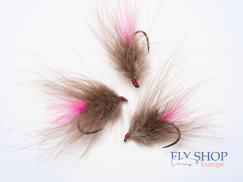 CDC Dry Fly Bug Hot Pink Tag STOCK