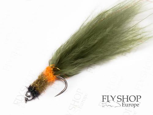 Olive Brown Marabou Montana Leech