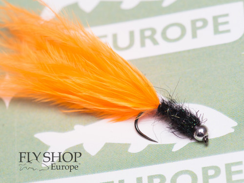 Hot Orange Marabou Leech - Black Body