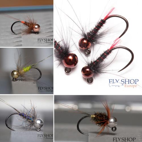 FS Europe River Nymph Set Small - Top Trout (30 Flies, 5 Patterns, Free Box)