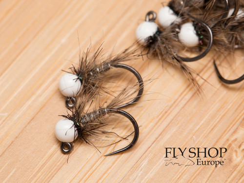 White Bead Hare's Ear Jig Nymph