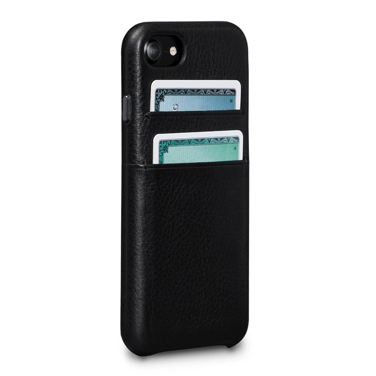 best website 0eefd fc2f7 SENA Bence Snap-on Wallet Case iPhone 8/7 - Black - Leather Case ...