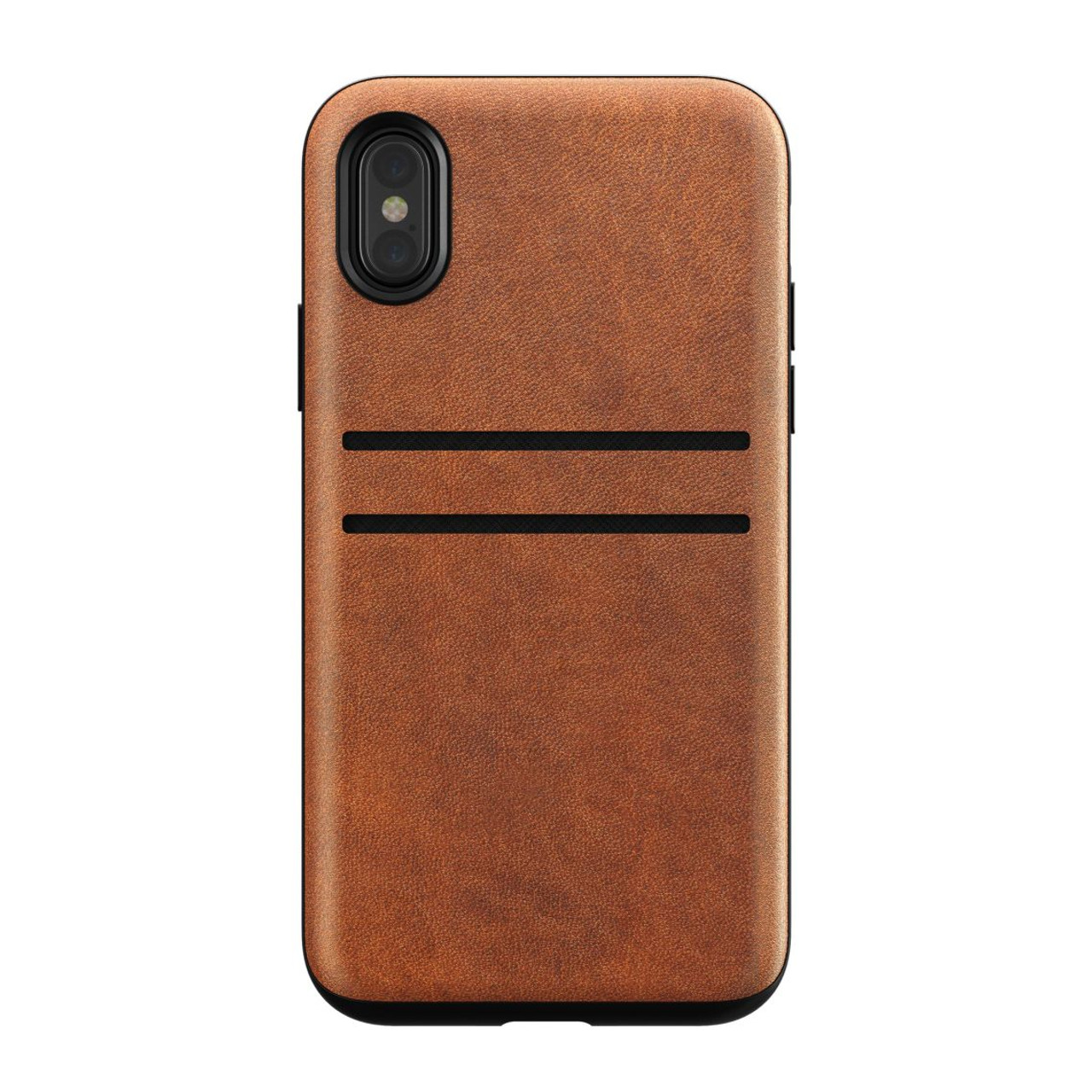 hot sale online 18321 43631 Nomad Horween Leather Wallet Case iPhone X/Xs - Rustic Brown