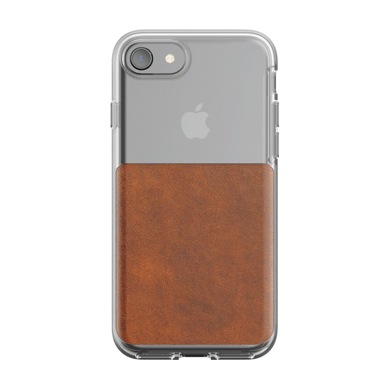 best service 7dc85 3982e Nomad Horween Leather Clear Case iPhone 8/7 - Rustic Brown
