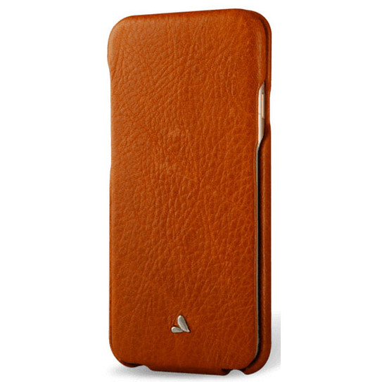 new style 6c3de 8361d Vaja Top Leather Case for iPhone 8/7/6/6S - Bridge Saddle Tan