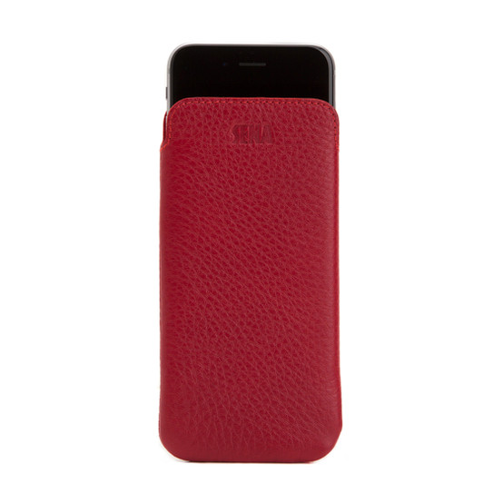 size 40 0c4f5 2bab6 SENA Ultraslim Classic Leather Pouch iPhone 8/7 - Red
