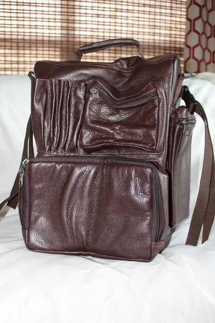 RV Flight Bag in brown leather