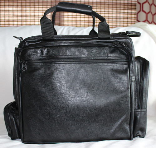 Ultimate Flight Bag shown in black leather
