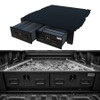 TruckVault Universal Pickup Truck All-Weather Series Storage System with 2 Drawers, Choose 6-10 inches Height, Includes Folding T-Handle Compression Keyed Locks, Dividers (2 Short & 2 Long), LINE-X Sprayed Coating, Weatherproof