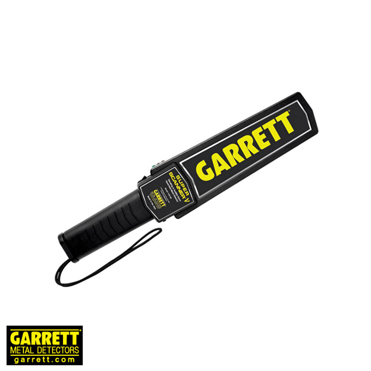 "Garrett Super-Scanner Hand-Held Security Metal Detector 1165190 with Audible and Silent Alarm Options - 8"" Scan Surface (9V Battery)"