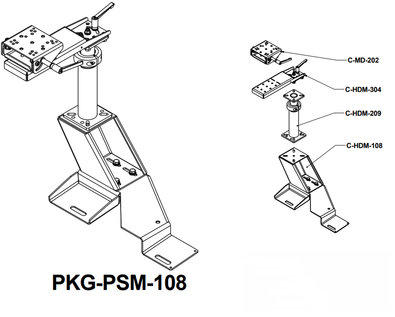 Havis Ford F 150 2004 2014 Laptop Stand Package Kit Part Pkg