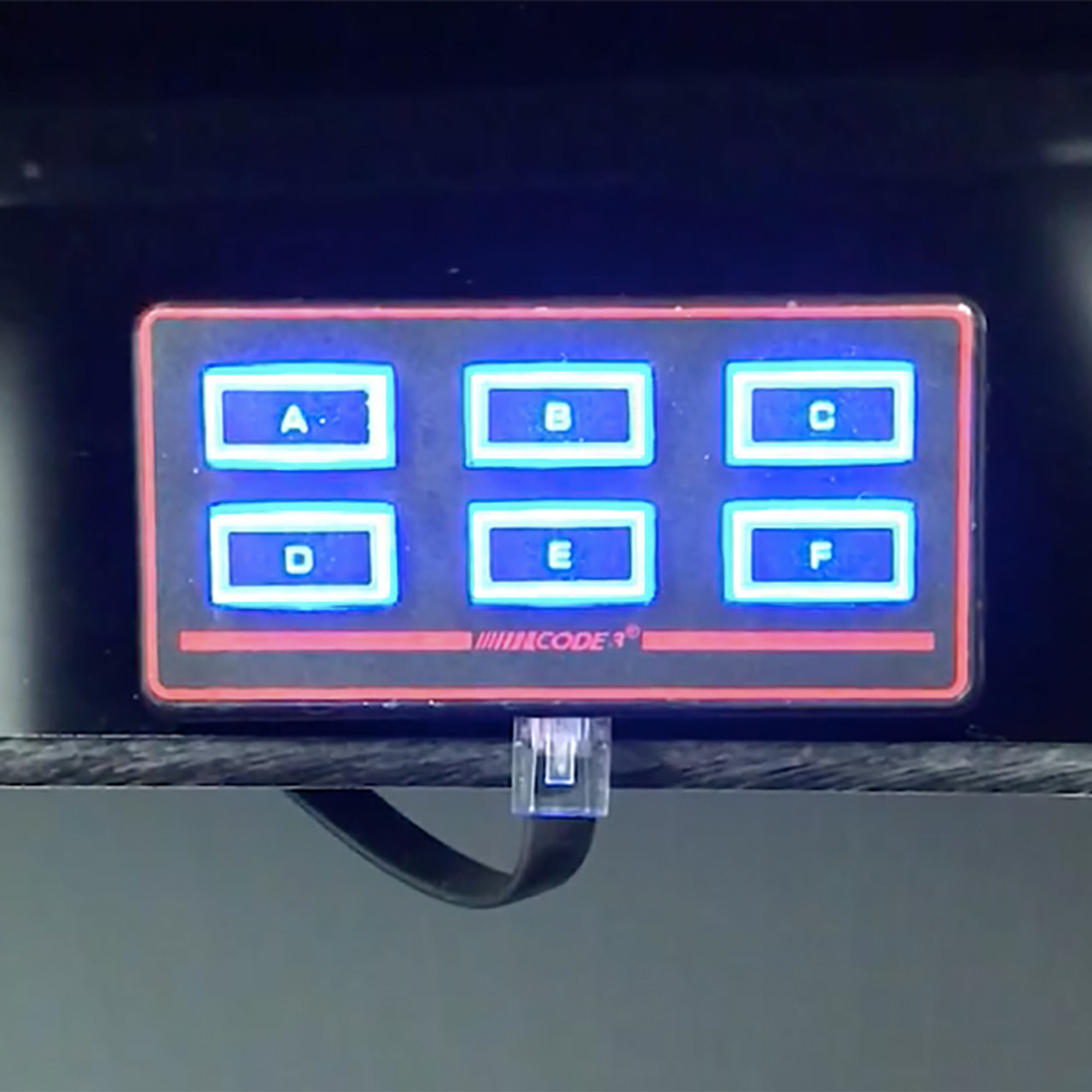 Code-3 Remote Rocker Max Pak™ Switch Box, Programmable, 6 Backlit Button  Control Head