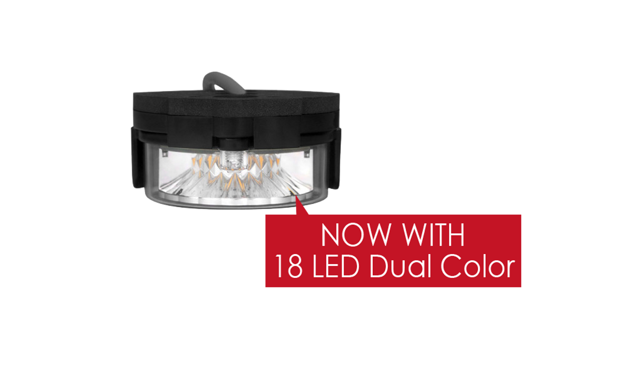 Soundoff ENT2B3 Intersector Under Side-View Mirror Mount, Universal, Single Color LED Light Head, includes 4-Wedges, Mounting Gasket & Hardware