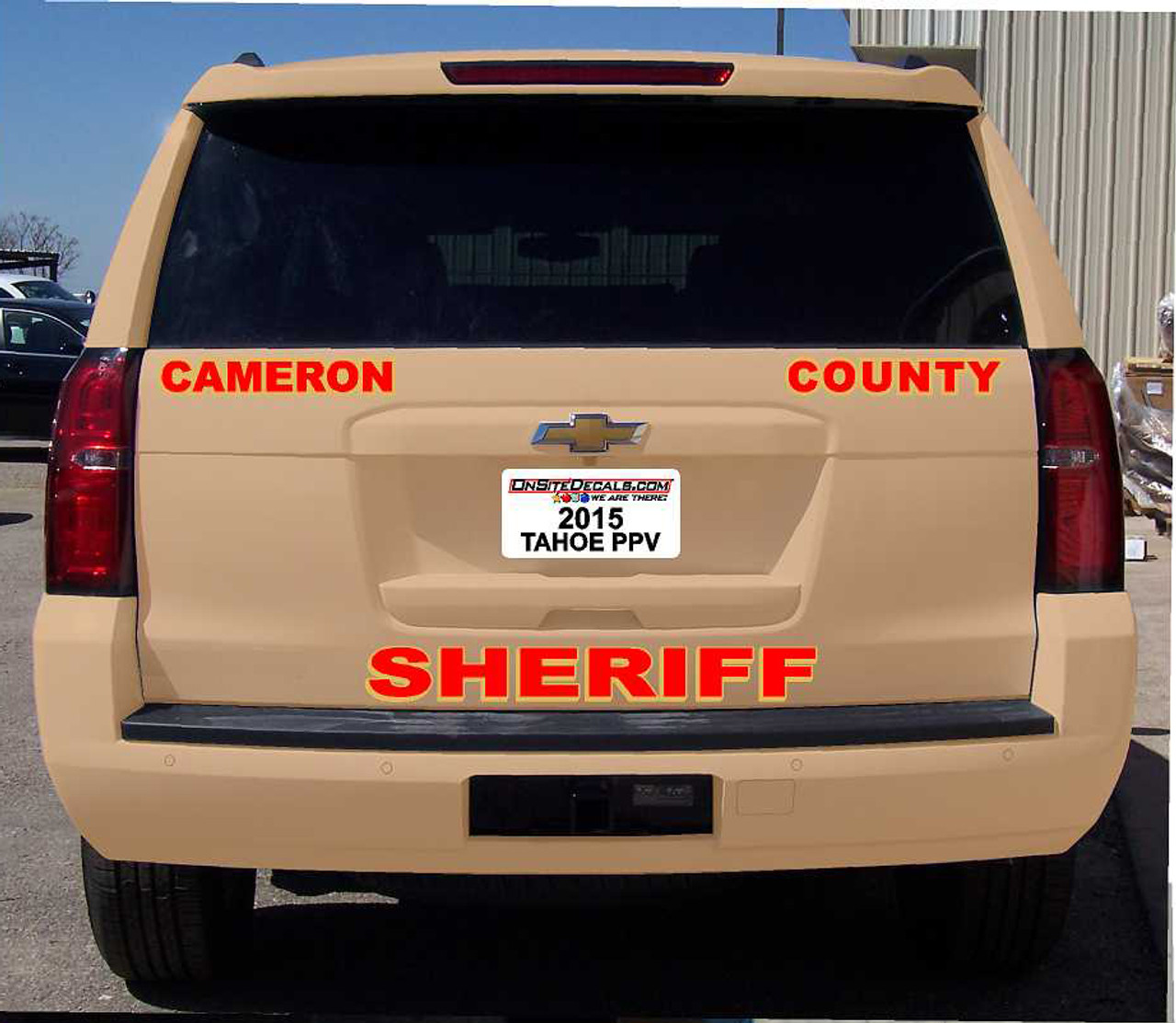Tahoe Police Vehicle Graphics Decal Kit FS-73