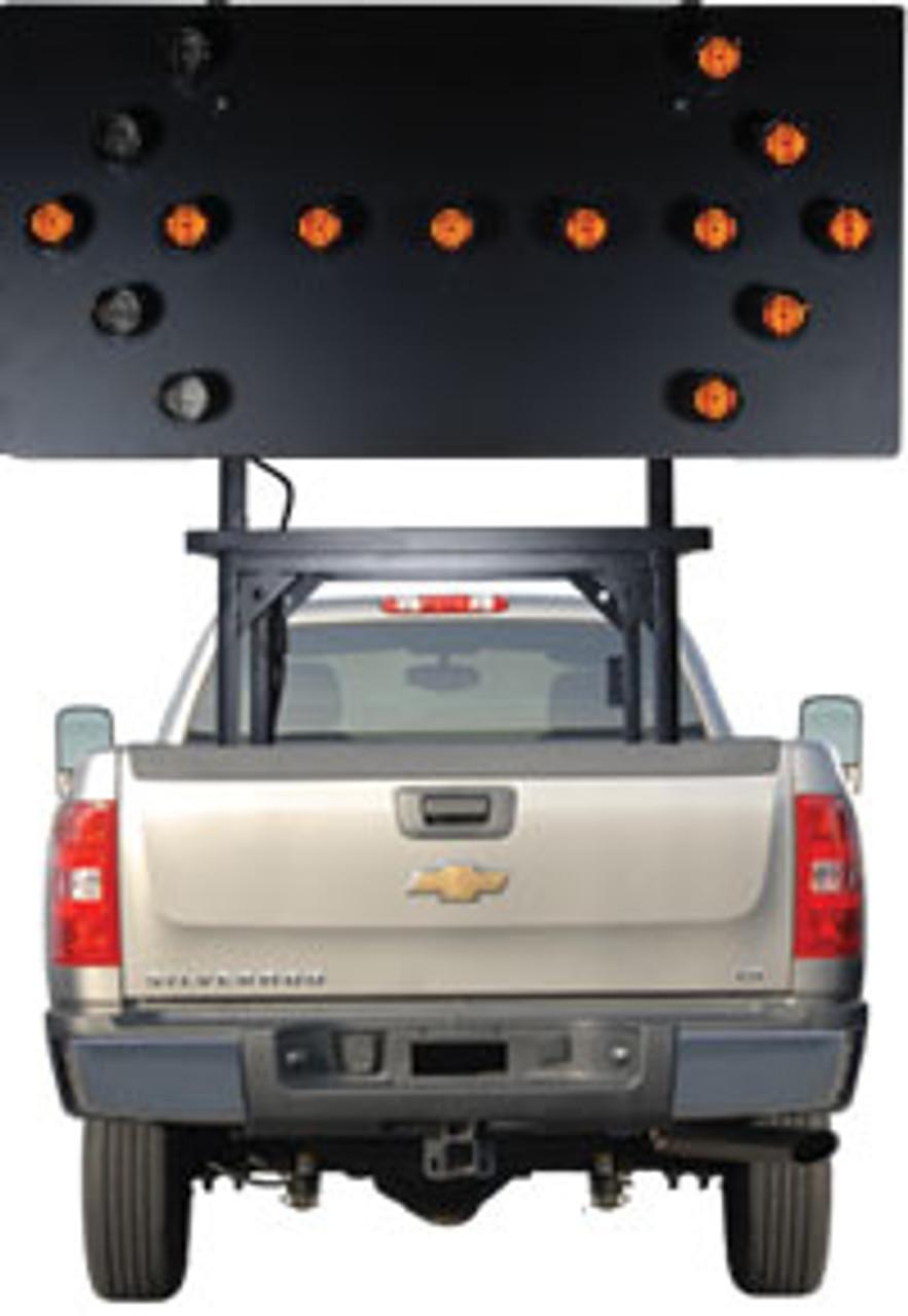 Solar Powered Vehicle Mount Silent Flashing Arrow Board Traffic Advisor Panel 15 LED Lamp by SolarTech