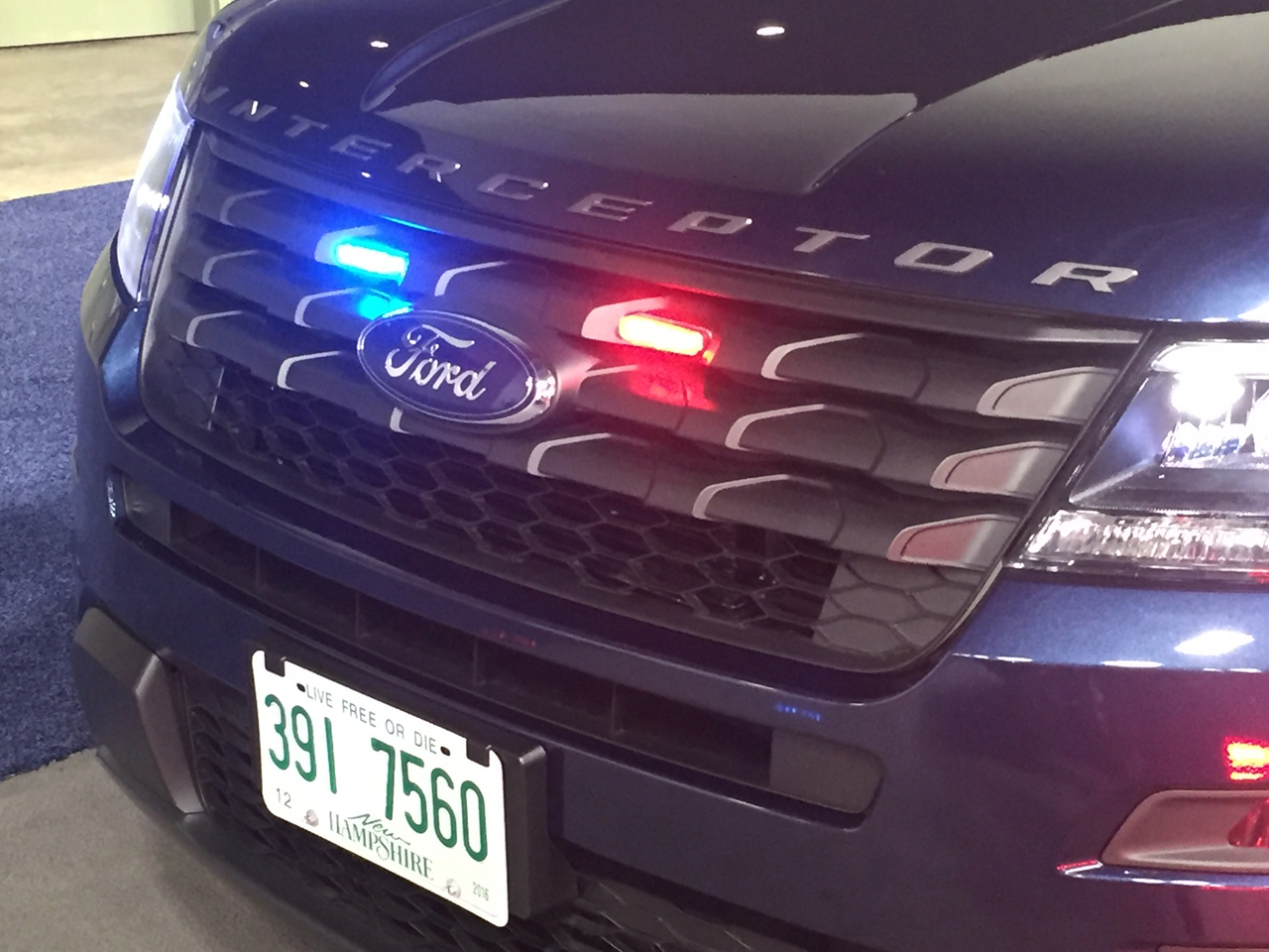 Whelen Micron LED Stud Mount Light Head MCRNT, fits perfect in the Ford Police Interceptor Utility SUV (Explorer) Grille, 2013-2019