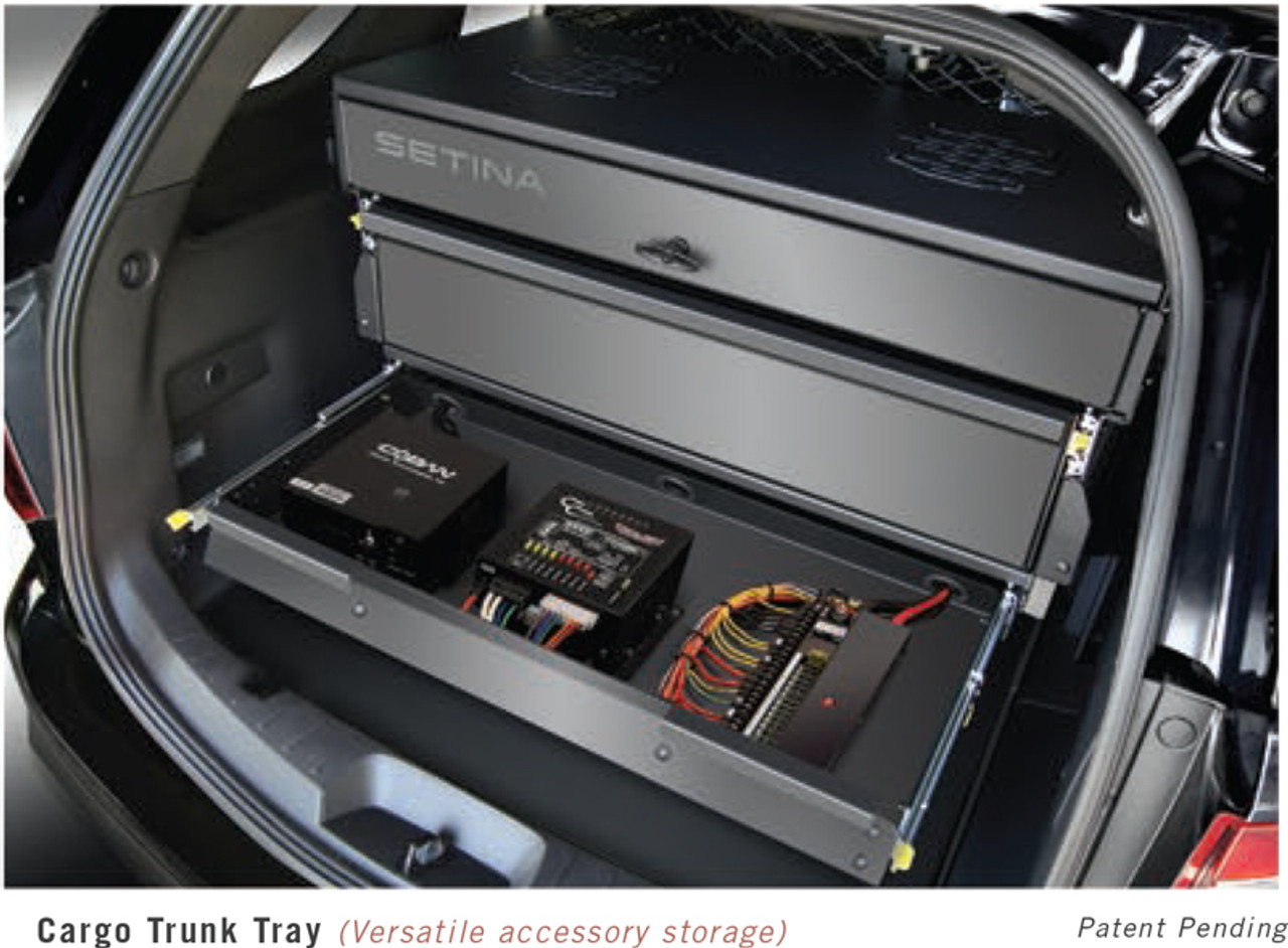 Suv Cargo Organizer >> Ford Escape Storage Organizer Rear Cargo Box By Setina Still Access Spare Tire