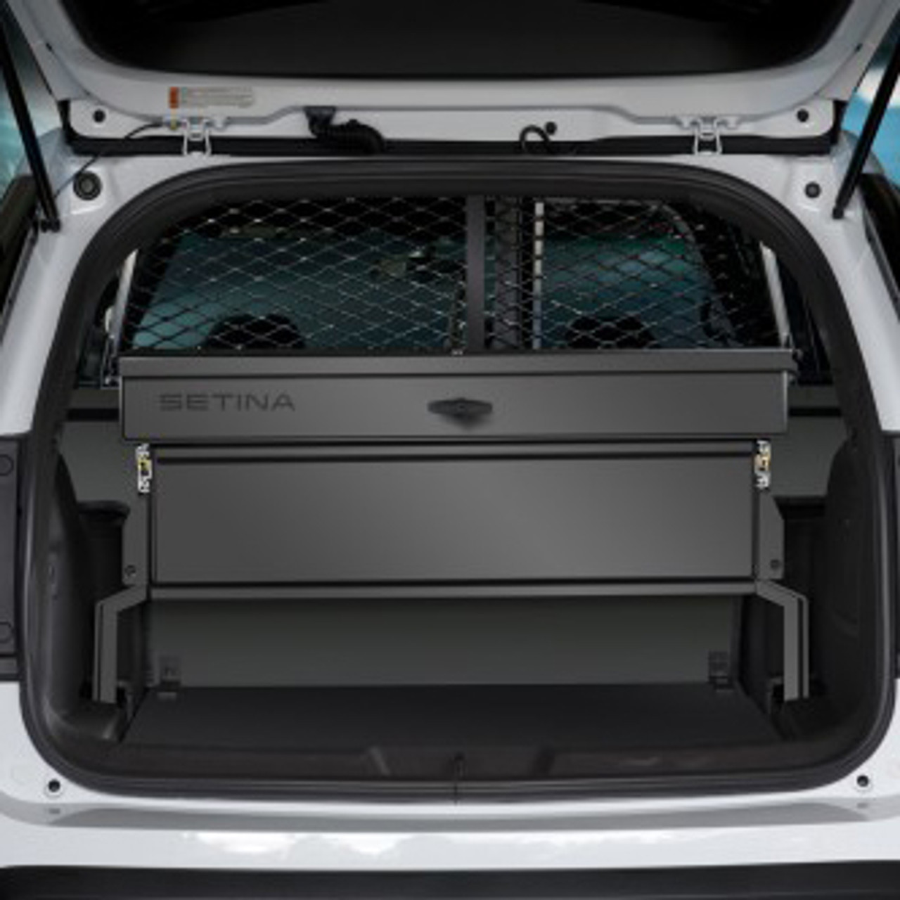 Ford Escape Storage Organizer Rear Cargo Box By Setina Still Access Spare Tire