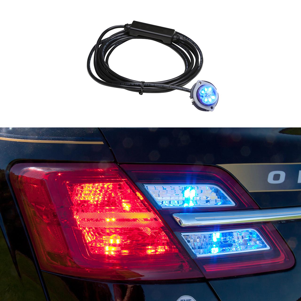 Whelen Vertex Hide-A-Way Corner LED Light-Head VTX609-, For Tail-Lights, Headlights, Or Surface Mount
