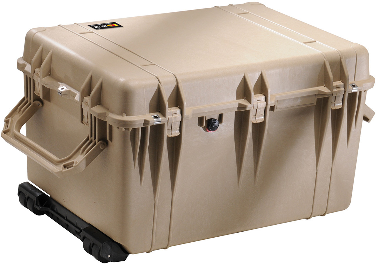 Pelican 1660 Protector - Large Transport Case with Wheels and Retractable  extension handle, with Optional Foam Insert or Optional Padded Divider,