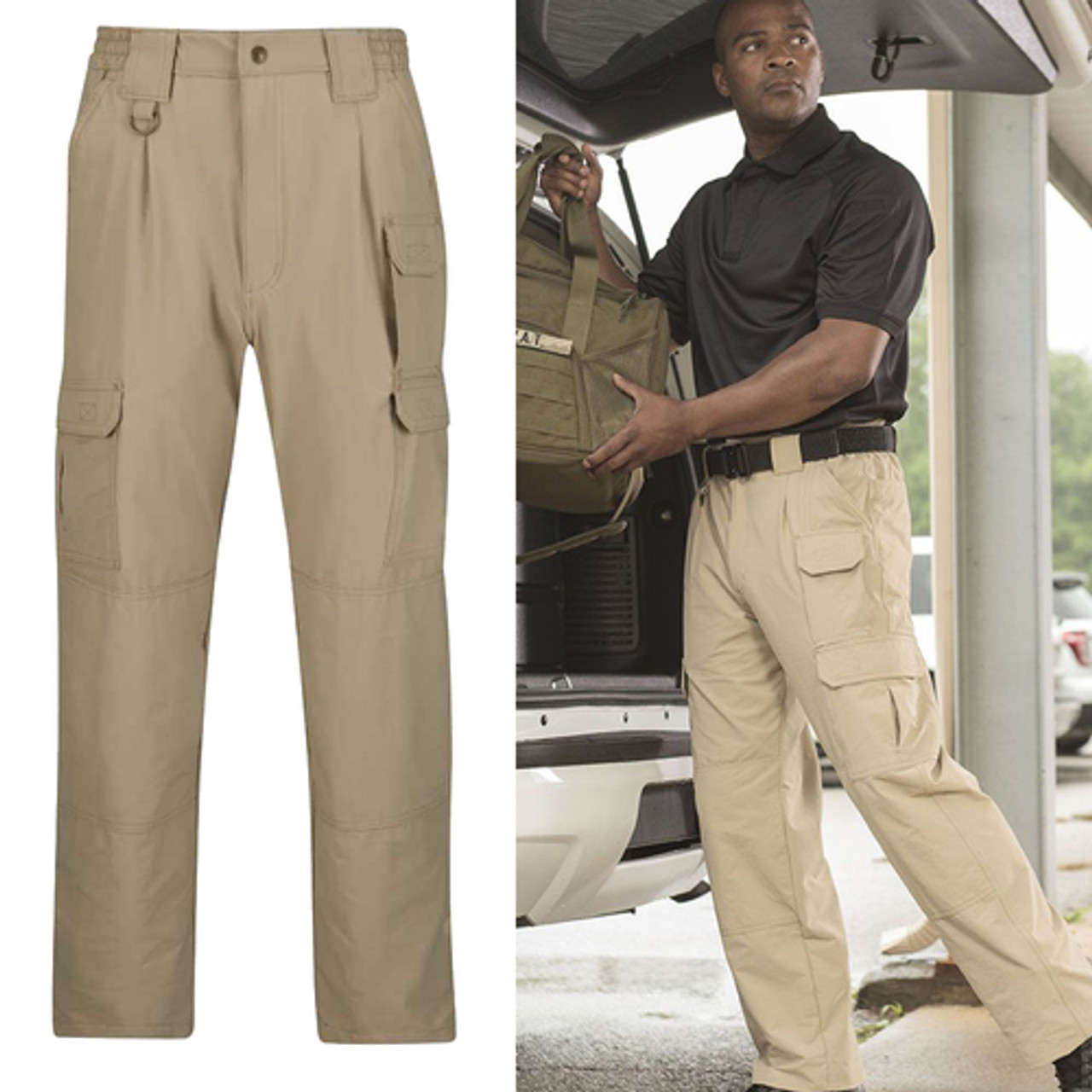 93f0746386145 Propper F52522Y Men's Stretch Tactical Pants, Nylon/Spandex micro ripstop  with Teflon fabric protector