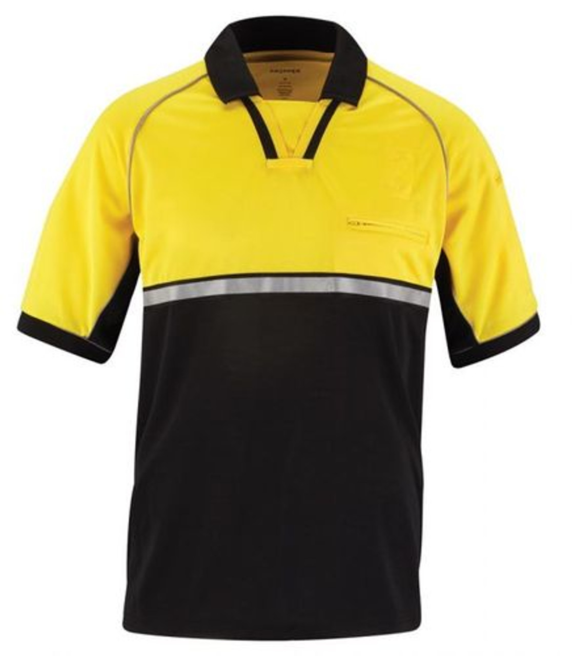 Propper® F5331 Bike Patrol Tactical Uniform Polo, Short Sleeve, 100% Polyester pique, Reflective trim on chest and sleeves, commonly chosen by Police and Security, Sternum Mic Loop