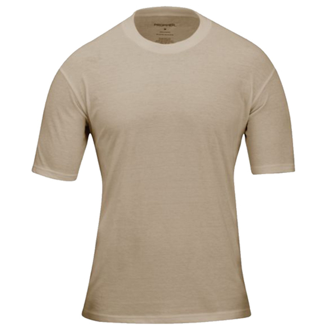41017eff Propper Men's T-Shirt, 3-Pack, Short Sleeve, 60% Cotton and 40% Polyester,  Clean, neat and professional apperance, available in Black, Light Tan, LAPD  ...