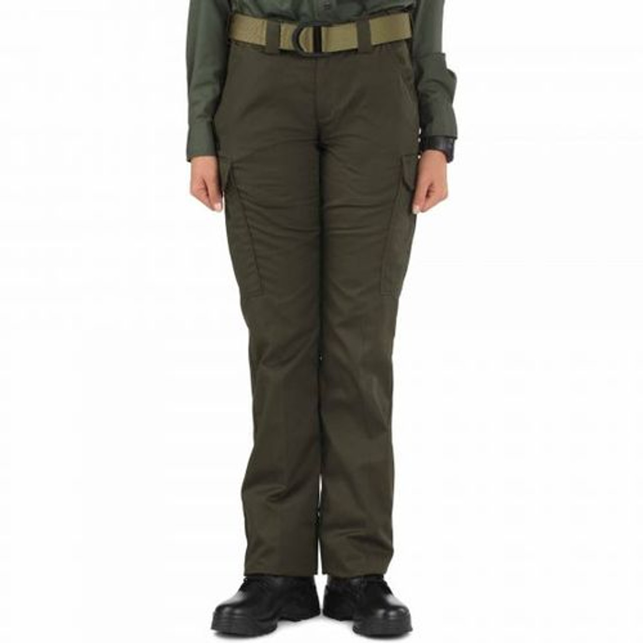 5.11 Tactical 64306 Women's Twill PDU Class-B Uniform Cargo Pants, Adjustable Waistband, Polyester/Cotton, Available in Black, Sheriff's Green, and Midnight Navy Blue