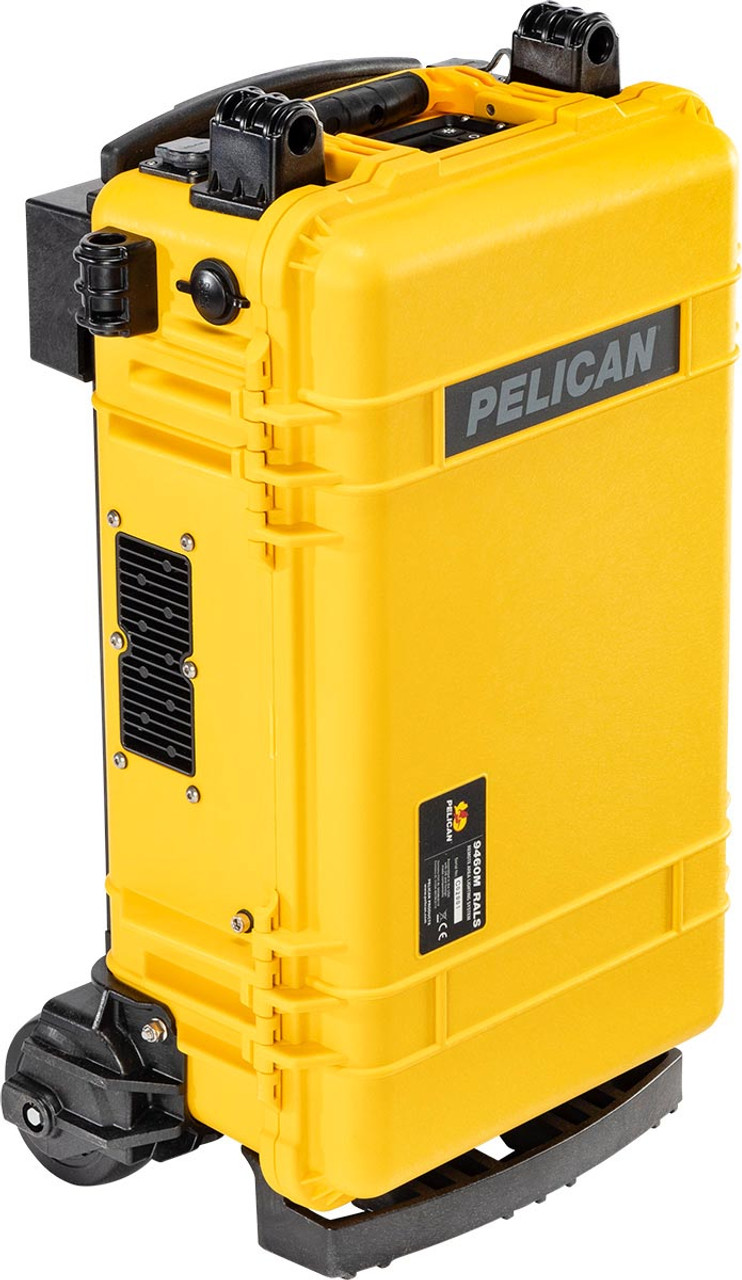 Pelican 9460M Remote Area Scene Light With Wheels and Dual Telescoping LED Light Heads, Available in Black or Yellow