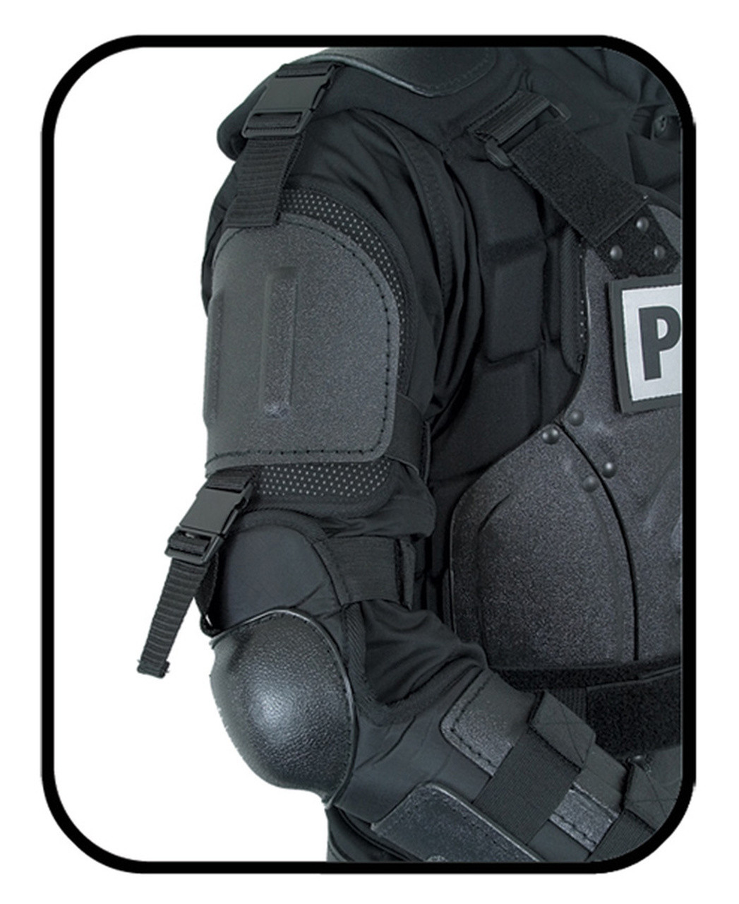 Damascus FX-1 Flex-Force Law Enforcement Riot Gear Protective Suit, complete kit except the helmet, includes upper body, shoulder, forearm, groin, thigh, knee and shin protection, and Gear Bag