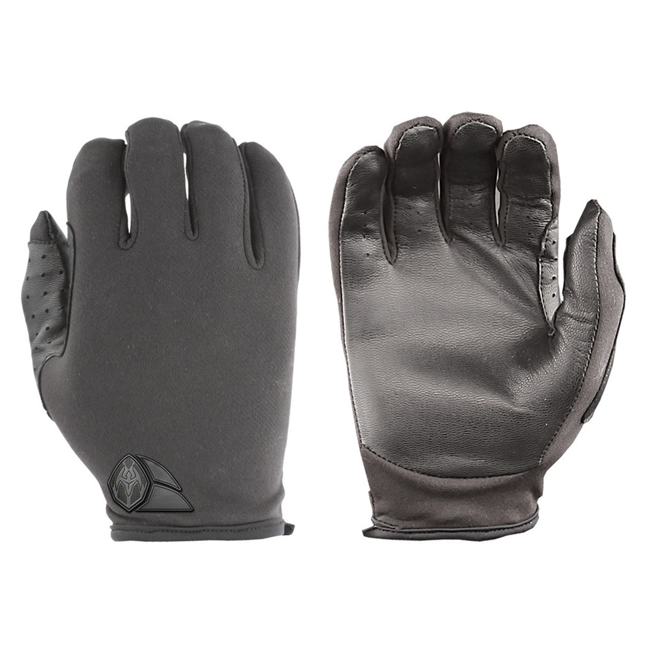 Damascus ATX Duty Advanced Police Riot Gear Tactical Gloves ATX5 Lightweight thin patrol w/ lycra back, leather palms, Slip-on construction with zero bulk, Lightweight Lycra® twill backhands