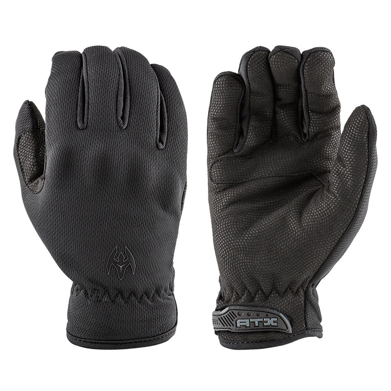 Black Cold Weather Insulated Leather Police Gloves