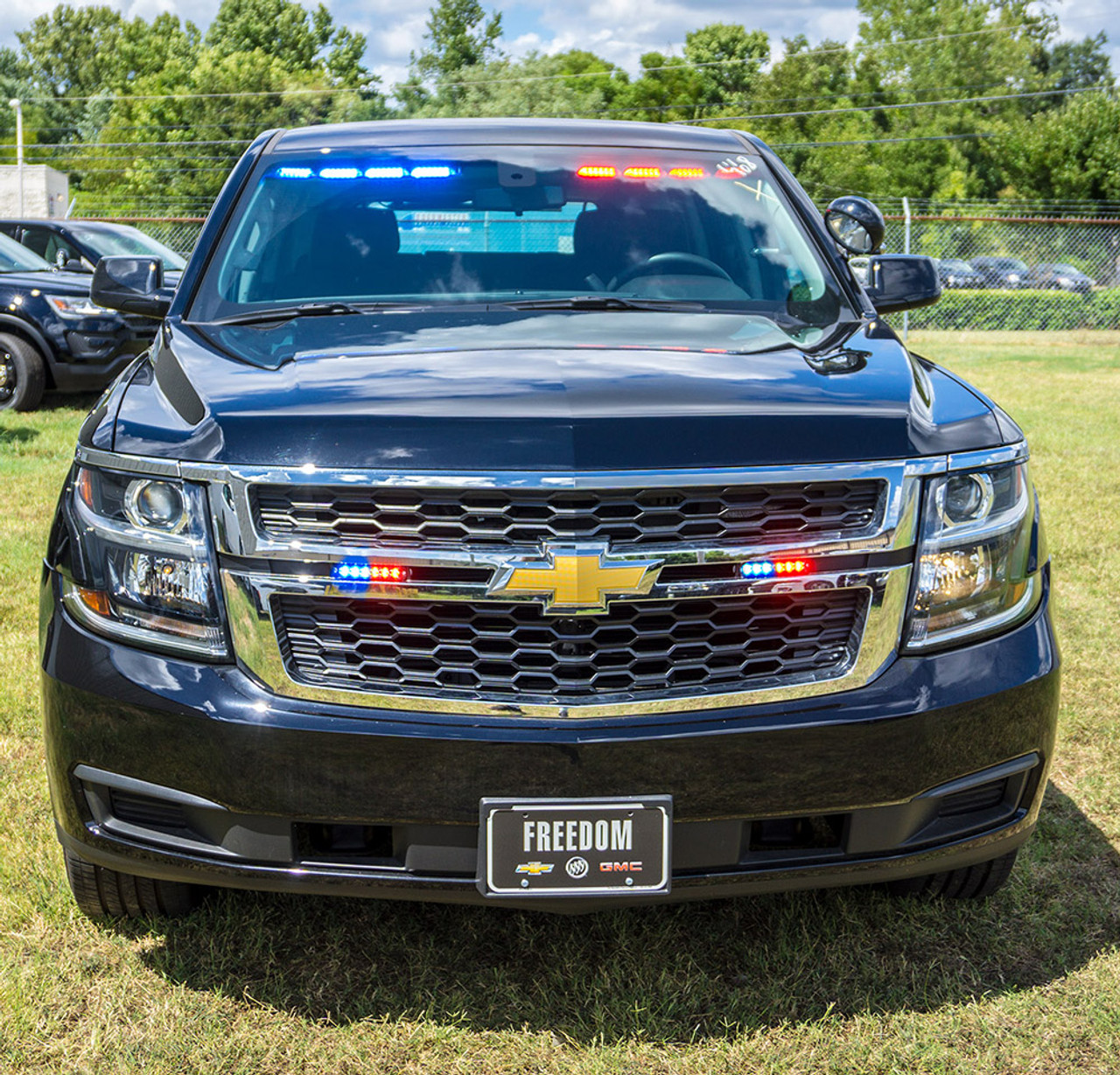 New 2019 Black Chevy Tahoe Police Package PPV V8 2WD, ready to be built as a Slick-Top Admin Package, choose any color LED Lights, + Delivery