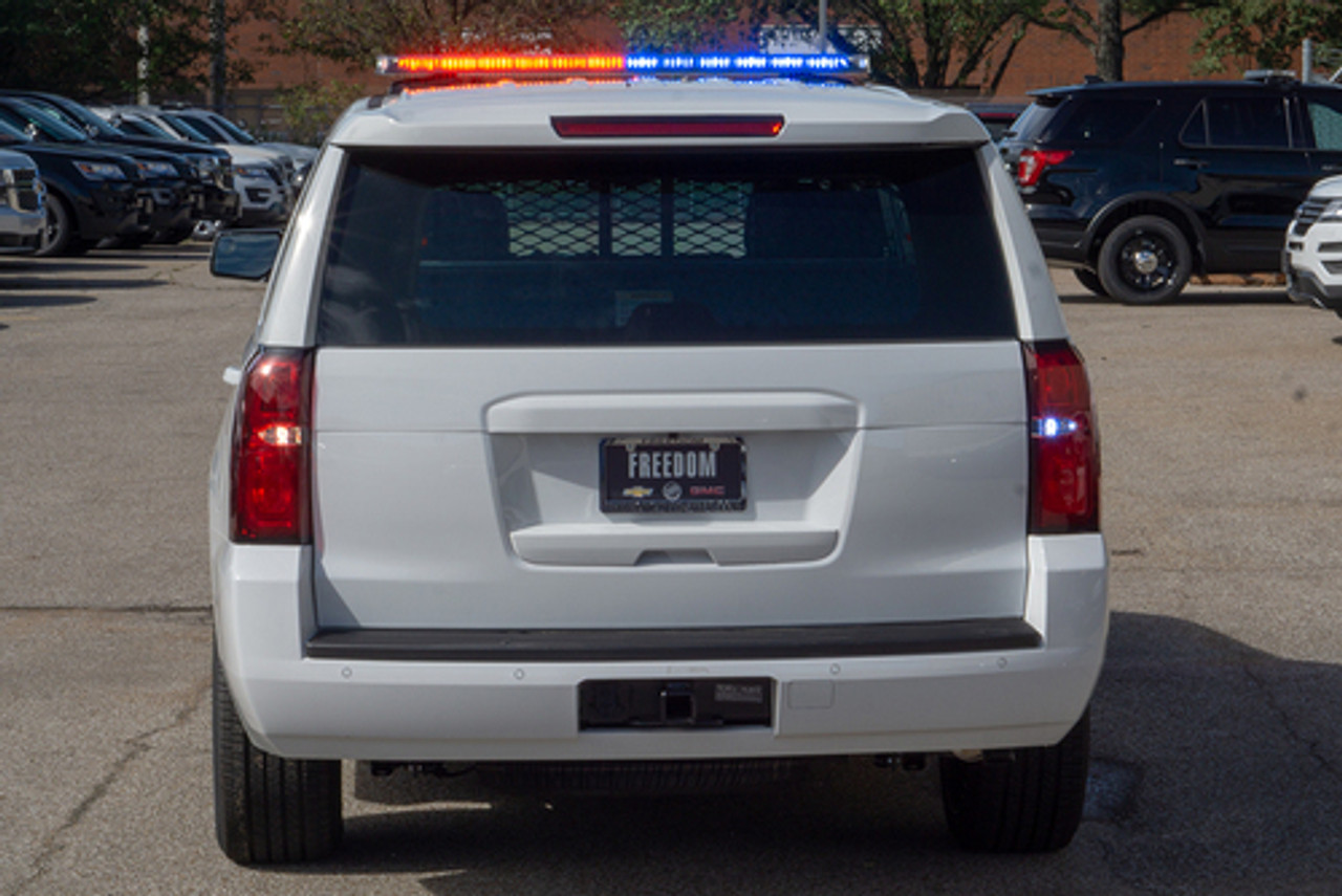 New 2019 4x4 White Tahoe PPV V8, ready to be built as a Marked Patrol Package, choose any color LEDs, + Delivery