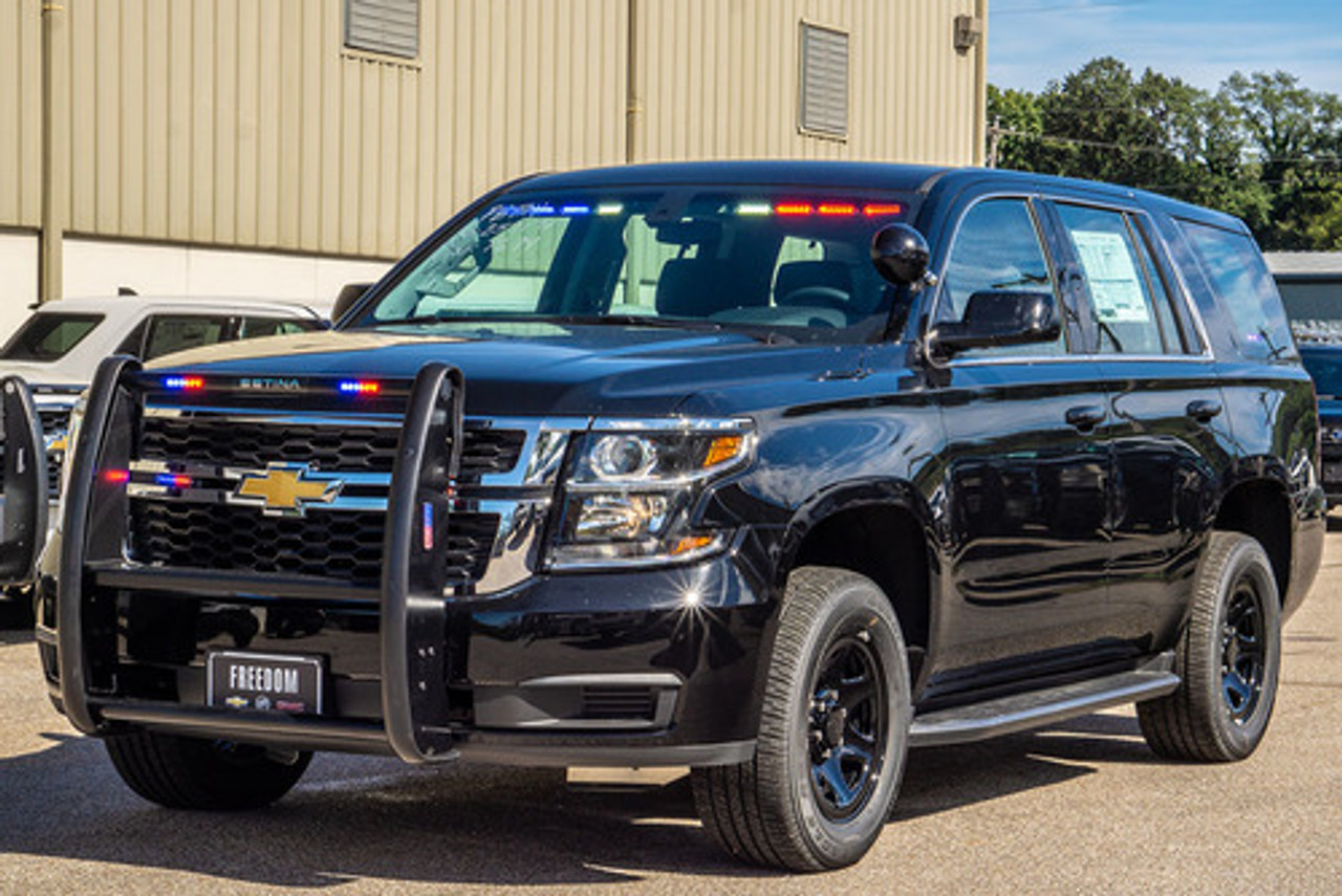 New 2019 Black Tahoe 4x4 PPV V8, ready to be built as a Slick-Top Admin Package, choose any color LEDs, + Delivery