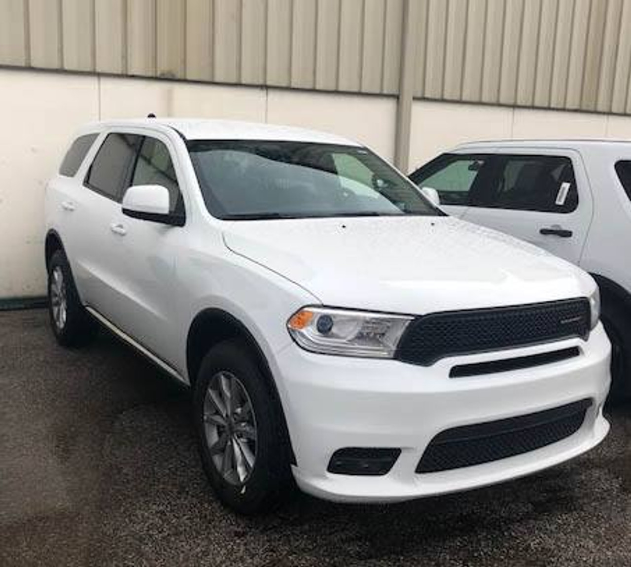 New 2019 White Dodge Durango PPV Law Enforcement Package V6 AWD All-Wheel Drive, ready to be built as an Unmarked Slick-Top Admin Package, choose any color LED Lights, + Delivery