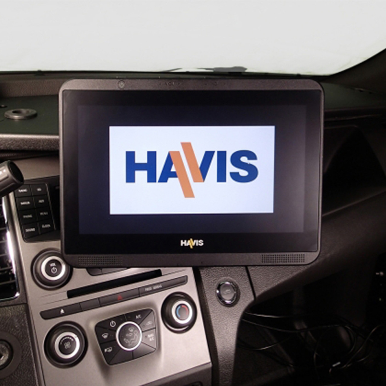 Havis C-DMM-2002 Dashboard Monitor or Tablet Mount for 2013-2019 Ford Police Interceptor Sedan,  Landscape or Portrait Applications with Tilt Swivel Motion for Left, Right, Up and Down Positioning
