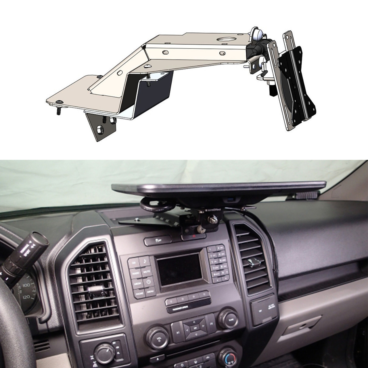 Havis C-DMM-2006 Dashboard Monitor or Tablet Mount for 2017-2019 Ford  F-250, 350, 450 Pickup and F-450, 550 Cab Chassis, 2018-2019 Ford  Expedition,