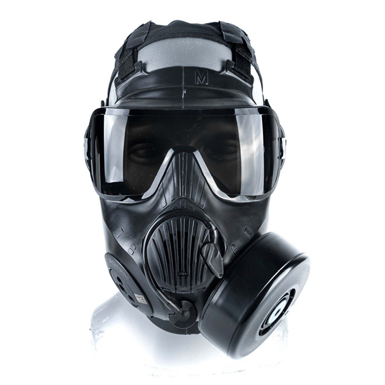 Avon Protection C50 Twinport Assembly, Single Mask (APR) Air Purifying Respirator, Scratch Resistant, with Optional Voice Projection Unit, Filter not Included