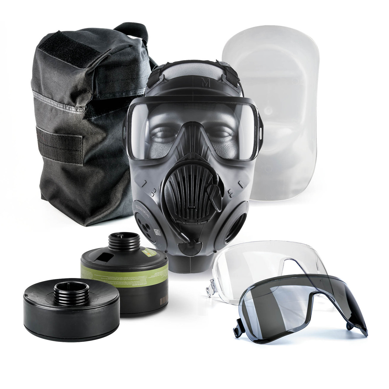 Avon Protection C50 (APR) Air Purifying Respirator First Responder Kit, includes  mask, two filter types, two outserts, and a carrier
