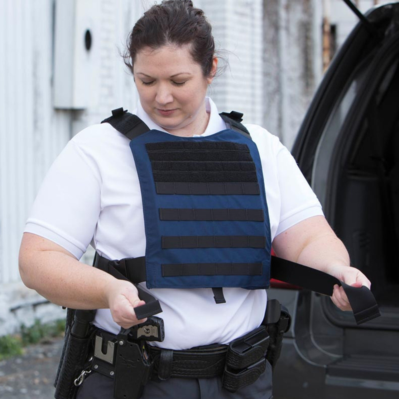 Propper CRITICAL RESPONSE® KIT, black, one-size-fits-all, includes Level 4 Ballistic Plates (front and back), Overt Carrier, Bag, & Placards, In Stock