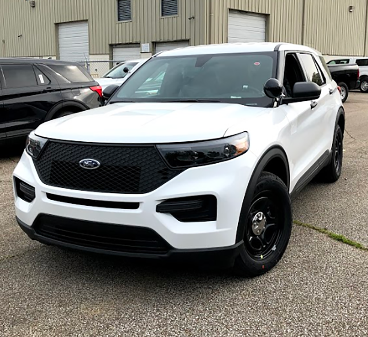New 2020 White Ford (Explorer) Police Interceptor PI Utility Hybrid AWD For Sale, Ready to be Built as an Admin Slick-Top Turnkey, featuring Whelen, Soundoff, Havis, + Delivery