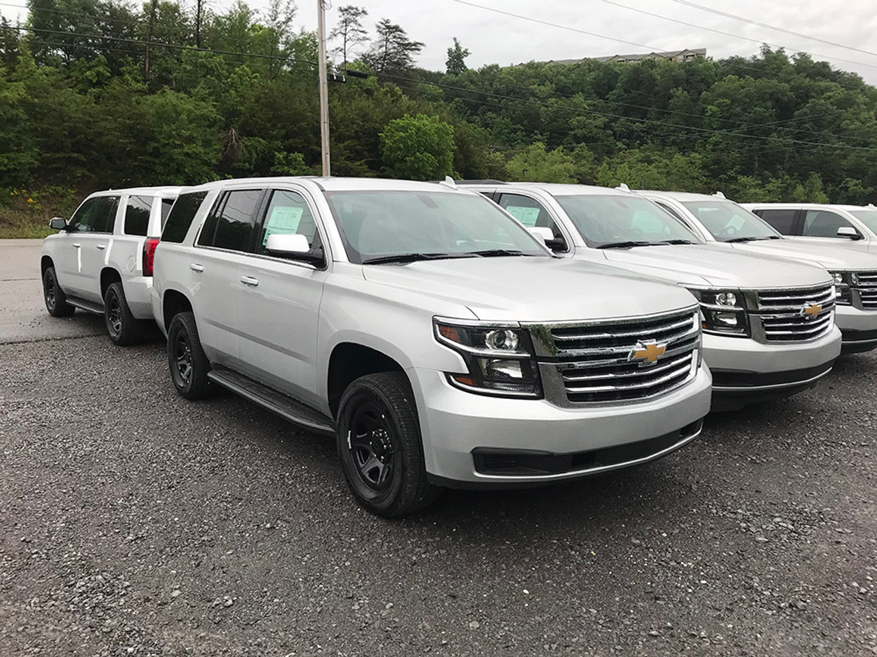 New 2020 Silver Chevy Tahoe Law Enforcement Package PPV V8 2WD, ready to be built as a Slick-Top Admin Package, choose any color LED Lights, + Delivery