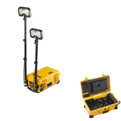 Pelican 9460 Remote Area Light With Dual telescoping LED light heads, Yellow