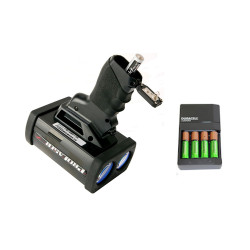 Kustom Signals  AA battery charger with 4 AA NiMH rechargeable batteries for the  ProLaser 4 or Pro-Lite+