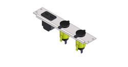 Havis 2 Lighter Plug Outlet W/ 1 USB Cut Outs, C-LP2-PS1-USB