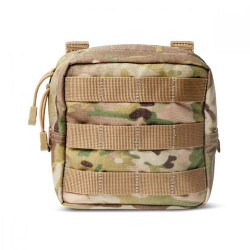 5.11 Tactical 6 X 6 POUCH, N500D body, Molded grip pull for gloved accessibility, provides lightweight all-weather storage, Multicam, 56389169