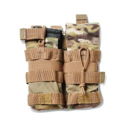 5.11 Tactical DOUBLE AR BUNGEE/COVER, N500D body/ N1050D base, Water repellent back coating, Includes both flap and bungee retention options, Weatherproofed, Multicam, 56387169