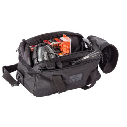 BLACKHAWK  SPORTSTER™ PISTOL RANGE BAG, Handgun and Ammo Bag, Two external slash pockets hold magazines and other small items, two flannel-lined rugs to protect handgun inside main compartment, Black, 74RB02BK